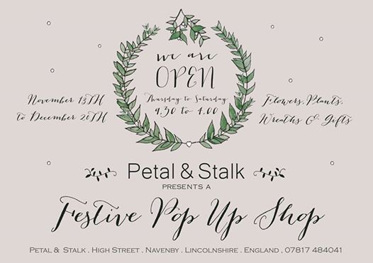 petal and stalk pop up shop